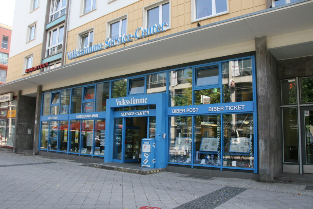 volksstimme service center magdeburg einkaufen in magdeburg. Black Bedroom Furniture Sets. Home Design Ideas