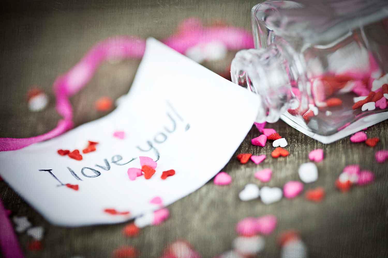 Liebesbotschaft zum Valentinstag