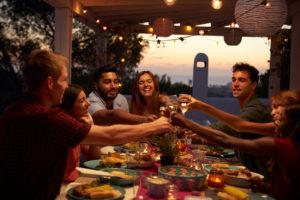 Feier mit Freunden