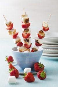 Marshmallow-Erdbeer-Sticks