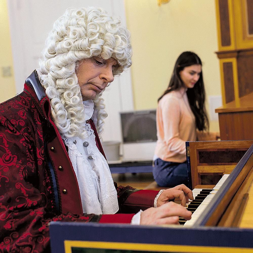 Georg Philipp Telemann am Klavier